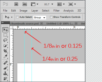 setting bleed lines in photoshop